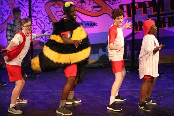 13 The Musical Alex Thomas (Malcom), Akmed Khemolie (Richie), George Littell (Simon), Daniel Osei (Eddie) Photo Roy Tan