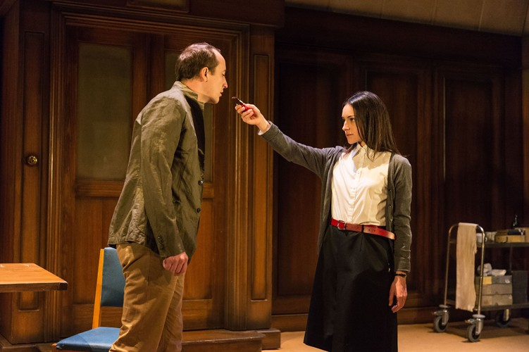 2015 West End cast - Matthew Spencer (Winston) and Janine Harouni (Julia) in 1984. Photography by Manuel Harlan