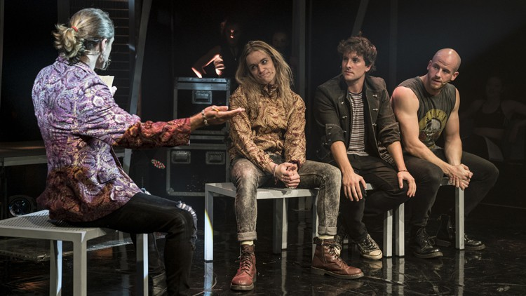 Ryan Molloy (Hades), Greg Oliver (Orpheus), Jac Donnelley (Max) Ryan Gibb (Jason) Photo Nick Ross