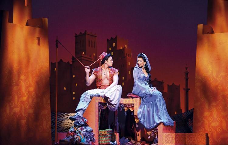 Aladdin Prince Edward Theatre Dean John-Wilson (Aladdin) and Jade Ewen (Jasmine) Photographer Deen van Meer Disney