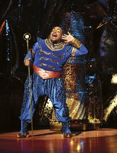 Aladdin Prince Edward Theatre Trevor Dion Nicholas (Genie) Photographer Deen van Meer Disney