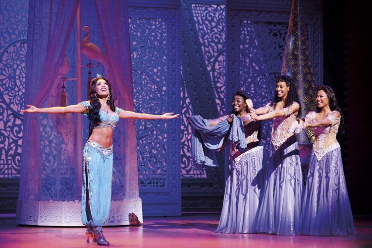 Aladdin Prince Edward Theatre_Jade Ewen (Jasmine) and company_Photographer Deen van Meer. Disney