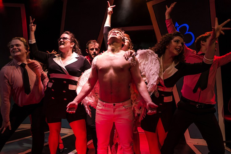 Devilish! Alex Green (Angel) and cast - Photo Scott Rylander