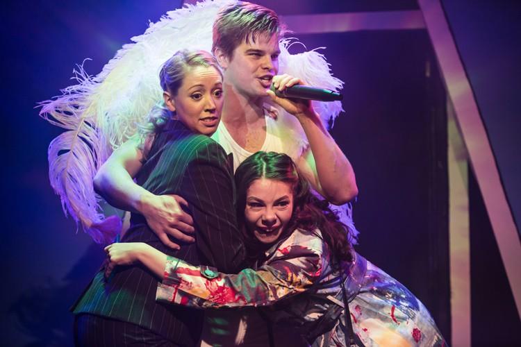 Devilish! Ruth (Victoria Hope) Alex Green (Angel) Maddie (Katie Ann Dolling) - Photo Scott Rylander