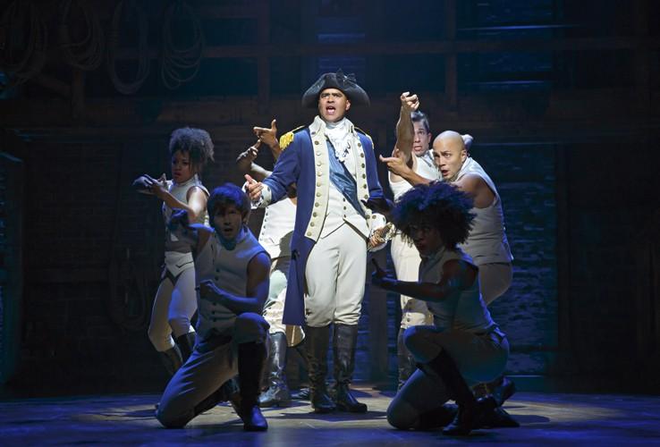 Hamilton Broadway - Christopher Jackson as George Washington. Photo Joan Marcus