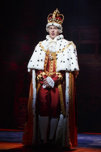 Hamilton Broadway - Jonathan Groff. Photo Joan Marcus