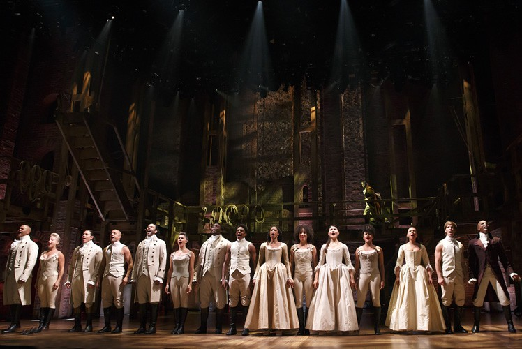 Hamilton Broadway - Hamilton Cast. Photo Joan Marcus