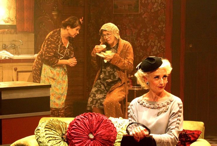 Debbie Chazen (Bodey), Julia Watson (Miss Gluck) and Hermione Gulliford (Helena). Photo credit Catherine Ashmore