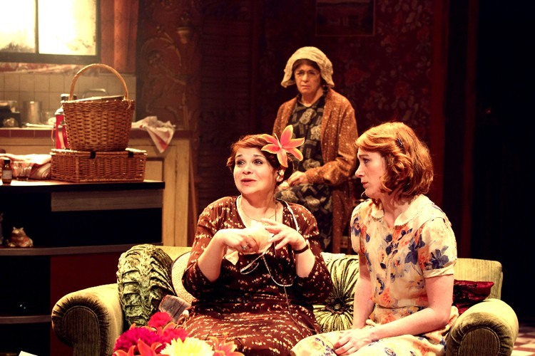 Debbie Chazen (Bodey), Julia Watson (Miss Gluck) and Laura Rogers (Dorothea). Photo credit Catherine Ashmore