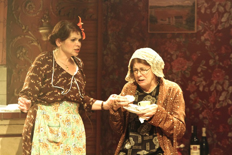 Debbie Chazen (Bodey) and Julia Watson (Miss Gluck). Photo credit Catherine Ashmore