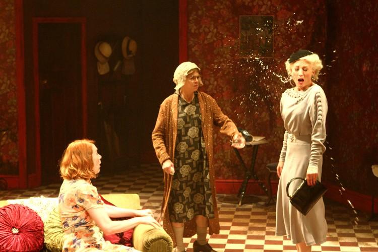 Laura Rogers (Dorothea), Julia Watson (Miss Gluck) and Hermione Gulliford (Helena). Photo credit Catherine Ashmore