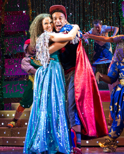 Allyson-Ava Brown as Jasmine and Karl Queensborough as Aladdin - Photo by Helen Murray