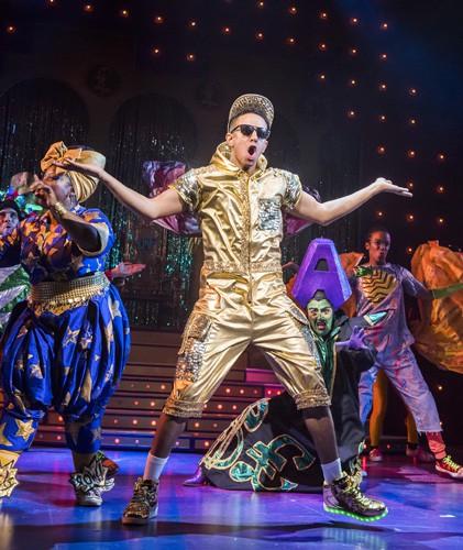 A scene from Aladdin at Lyric Theatre, Hammersmith. Image by Tristram Kenton