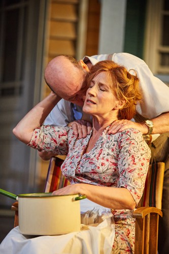 All My Sons at the Rose Theatre, Kingston. David Horovitch (Joe Keller) and Penny Downie (Kate Keller). Photo by Mark Douet.