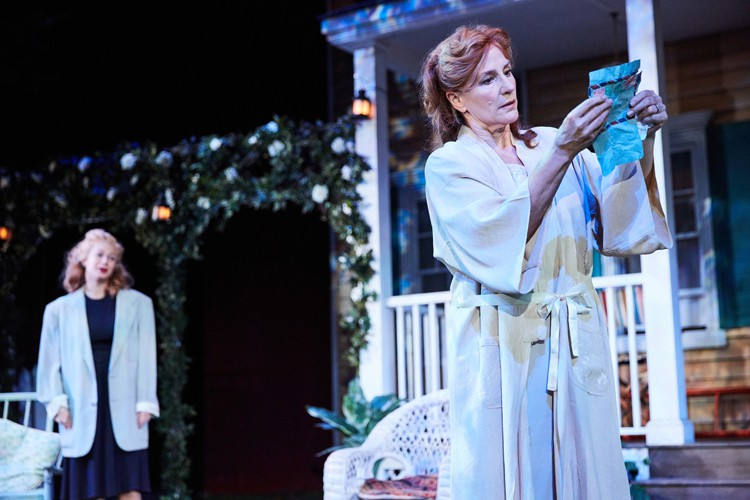 All My Sons at the Rose Theatre, Kingston. Francesca Zoutewelle (Ann Deever) and Penny Downie (Kate Keller). Photo by Mark Douet.