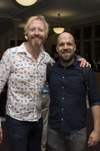 Andrew Pollard (Phileas Fogg) & Matthew Ganley (Colonel Proctor). Credit - Adam Bennett