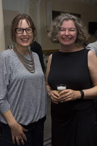 Fiona Wallace (Executive Director of New Vic) & Theresa Heskins (Director). Credit - Adam Bennett