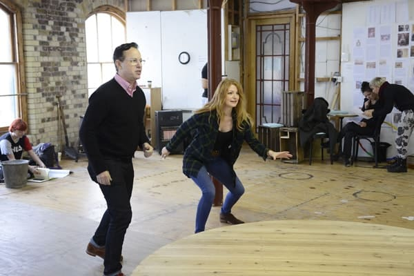 Barnum rehearsal photograph 009, Gordon Greenberg (Director) and Laura Pitt-Pulford © Nobby Clark