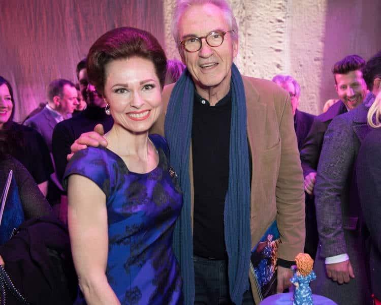 l-r Barbara Drennan (Genie Klein), Larry Lamb photo Craig Sugden
