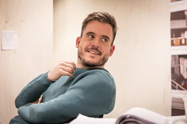 Director Michael Longhurst in rehearsals for Belleville at the Donmar Warehouse. Photo Marc Brenner