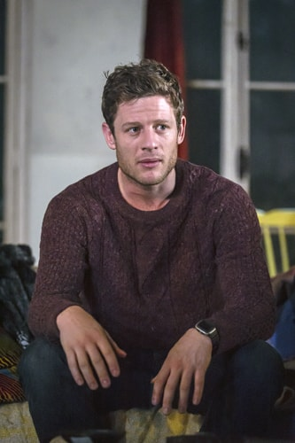 James Norton (Zack) in Belleville at the Donmar Warehouse, directed by Michael Longhurst, designed by Tom Scutt. Photo by Marc Brenner