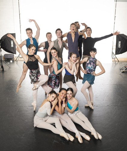 New English Ballet Theatre. Group photograph.