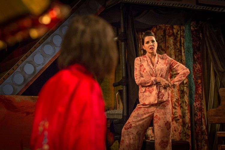 Britten in Brooklyn - Ruby Bentall (Carson McCullers) Sadie Frost (Gypsy Rose Lee) Photo Marc Brenner