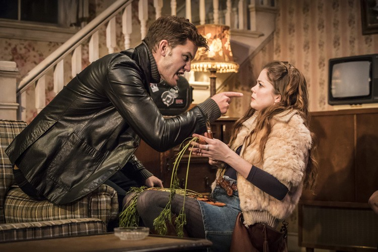 Jeremy Irvine & Charlotte Hope in Buried Child, Trafalgar Studios, photo Johan Persson