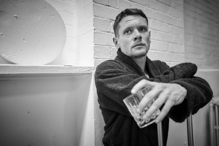 Jack O'Connell in rehearsals for Cat on a Hot Tin Roof. Photo by Charlie Gray