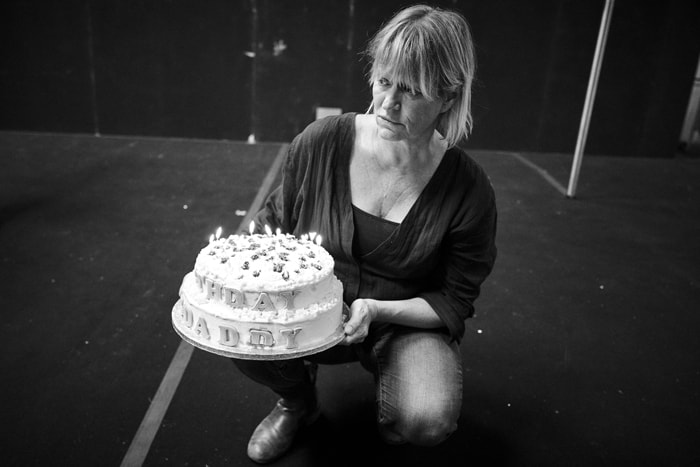 Lisa Palfrey in rehearsal for Cat on a Hot Tin Roof. Photo by Charlie Gray