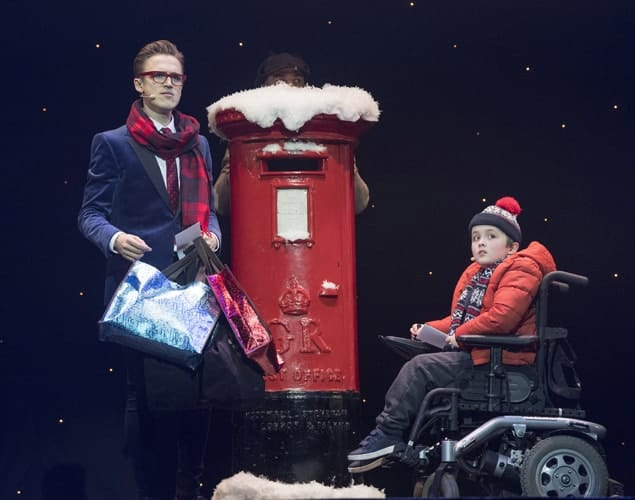 L-R Tom Fletcher (Bob Trundle) & Dan Mclellan (William Trundle) - The Christmasaurus Live - Eventim Apollo - (c) Alastair Muir