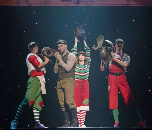 Matt Willis (The Hunter) and Ensemble - The Christmasaurus Live - Eventim Apollo (c) Alastair Muir