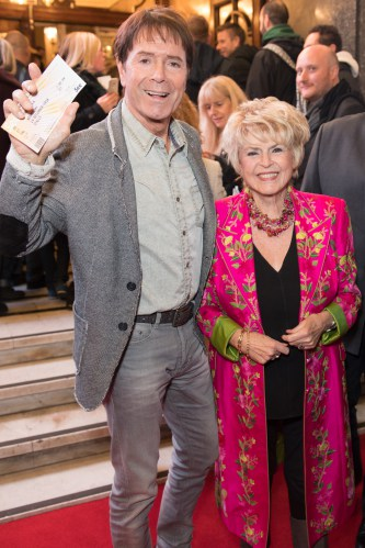 Cliff Richard and Gloria Hunniford at the Opening Night of Cinderella at the London Palladium - Photo credit Craig Sugden
