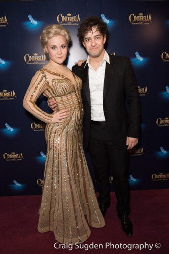 Natasha J Barnes and Lee Mead at the Opening Night of Cinderella at the London Palladium - Photo credit Craig Sugden