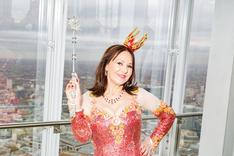 Arlene Phillips at A View From The Shard - credit Darren Bell