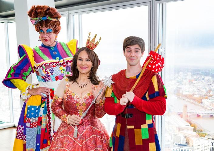 Matthew Kelly, Arlene Phillips, Sam Hallion - At The View From The Shard - credit Darren Bell