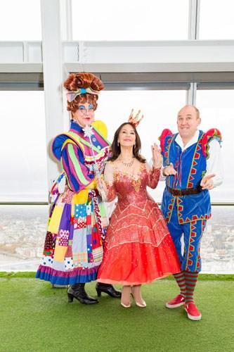 Matthew Kelly, Arlene Phillips, Tim Vine - At The View From The Shard - Credit Darren Bell