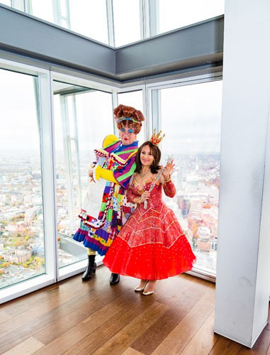Matthew Kelly and Arlene Phillips at The View From The Shard - Photo credit Darren Bell