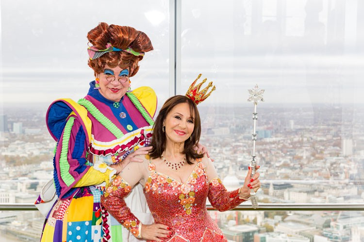 Matthew Kelly and Arlene Phillips at The View From The Shard - Credit Darren Bell