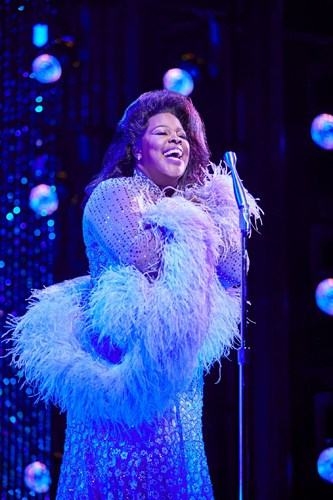 Amber Riley in Dreamgirls at the Savoy Theatre (2). Credit Brinkhoff & Magenburg