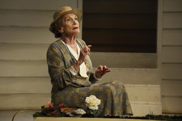 Siân Phillips in Driving Miss Daisy presented by Theatre Royal Bath Productions CREDIT Nobby Clark