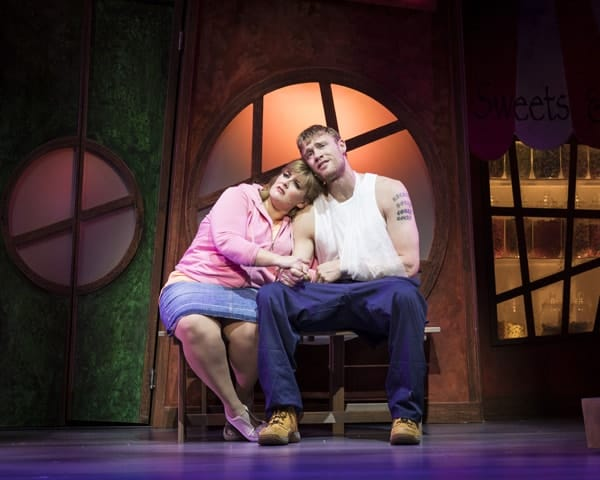 Jodie Prenger and Andrew Freddie Flintoff for Kay Mellors Fat Friends the Musical. Photo by Helen Maybanks.