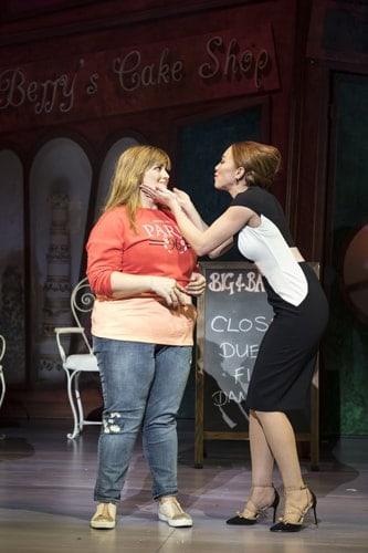 Jodie Prenger and Natasha Hamilton for Kay Mellors Fat Friends the Musical. Photo by Helen Maybanks.
