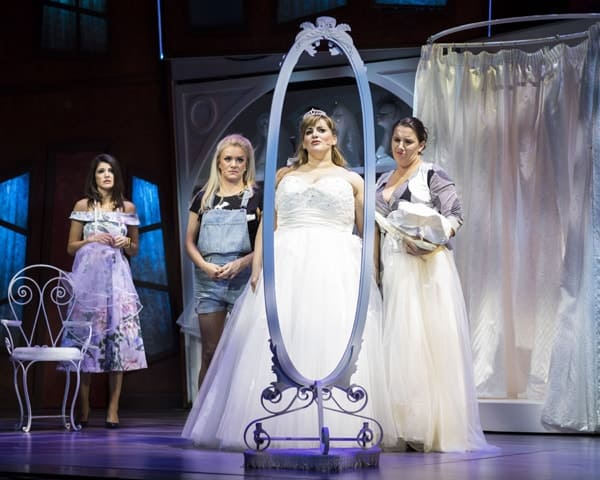 Natalie Anderson, Rachael Wooding, Jodie Prenger and Sam-Bailey for Kay Mellors Fat Friends the-Musical. Photo by Helen Maybanks.