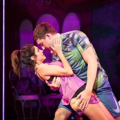 Natalie Anderson and Jonathan Halliwell for Kay Mellors Fat Friends the-Musical. Photo by Helen Maybanks.