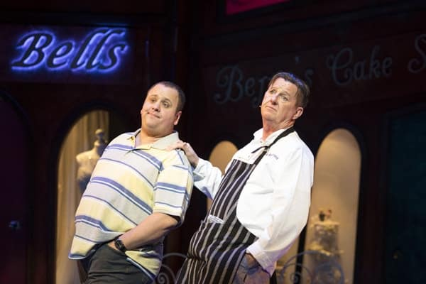 Neil Hurst and Kevin Kennedy for Kay Mellors Fat Friends the Musical. Photo by Helen Maybanks.