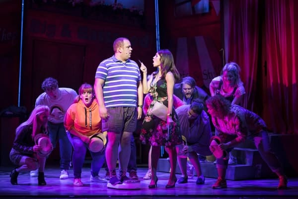 Neil Hurst and Natalie Anderson for Kay Mellors Fat Friends the Musical. Photo by Helen Maybanks.