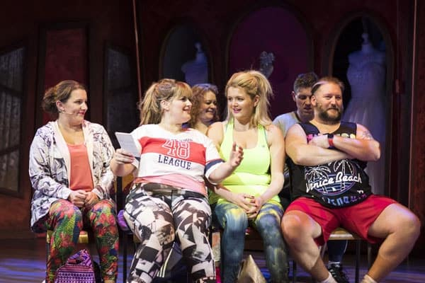 Sam Bailey, Jodie Prenger, Laura Mansell and Craig Armstrong for Kay Mellors Fat Friends the Musical. Photo by Helen Maybanks.