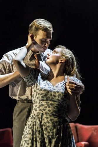Adam Rhys-Charles as Young Ben and Alex Young as Young Sally in FOLLIES at the National Theatre (c) Johan Persson