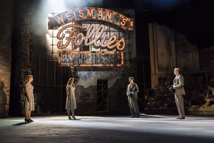 Zizi Strallen as Young Phyllis, Alex Young as Young Sally, Fred Haig as Young Buddy and Adam Rhys-Charles as Young Ben (c) Johan Persson